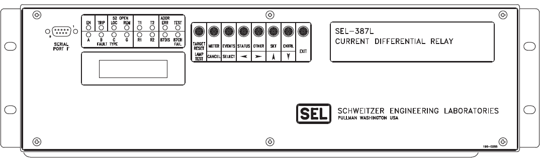 SEL387L- Front Panel