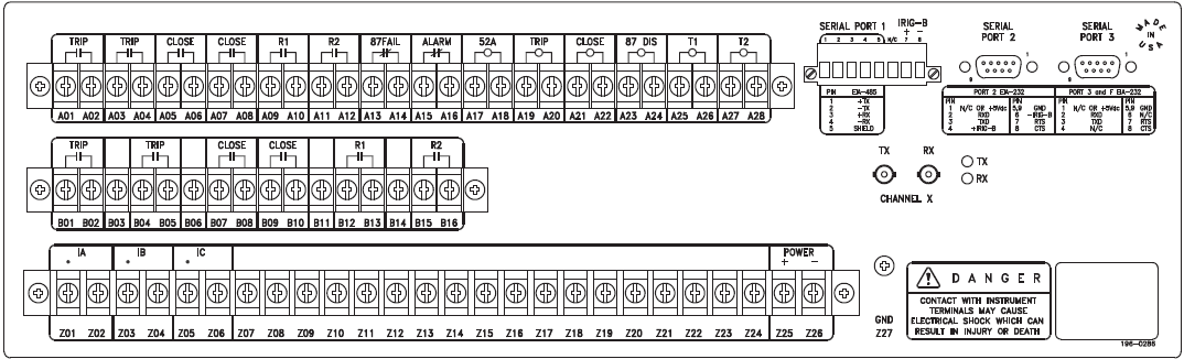 SEL387L- Rear Panel