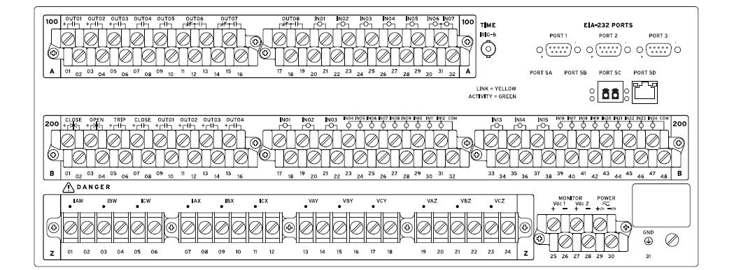 SEL-451 Rear Panel