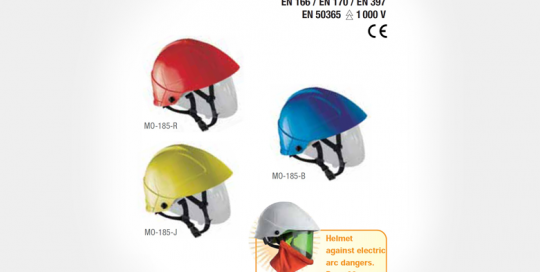 Helmet with Built-in Face Shield