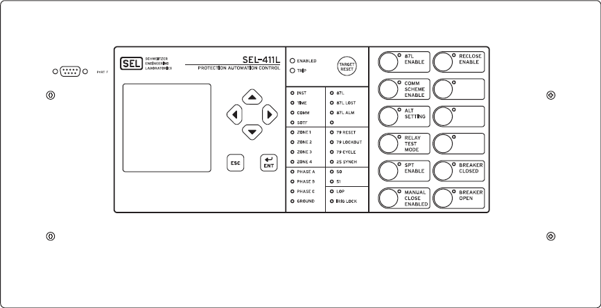 SEL-411L Front Panel