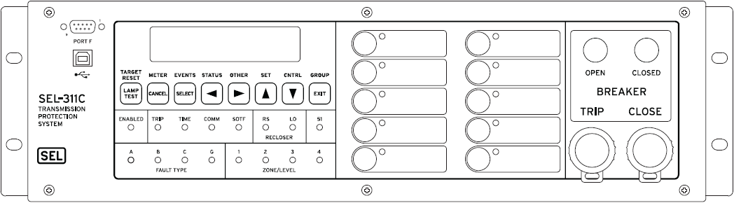 SEL311C- Front Panel