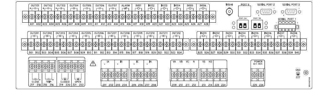 SEL311C- Rear Panel
