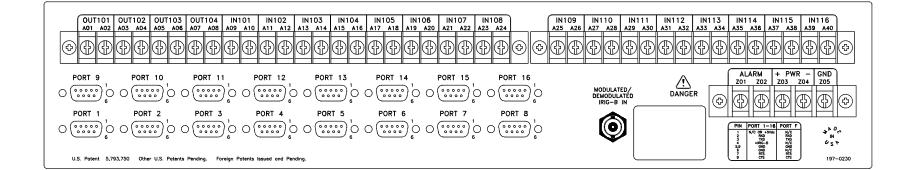 SEL-2100 Rear Panel