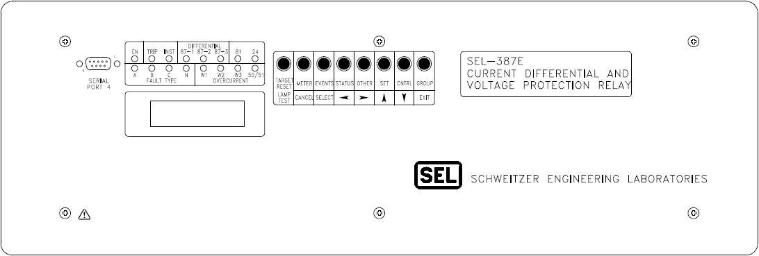 SEL-387E Front Panel