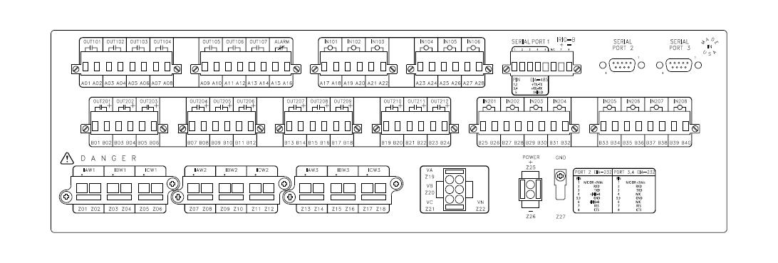 SEL-387E Rear Panel