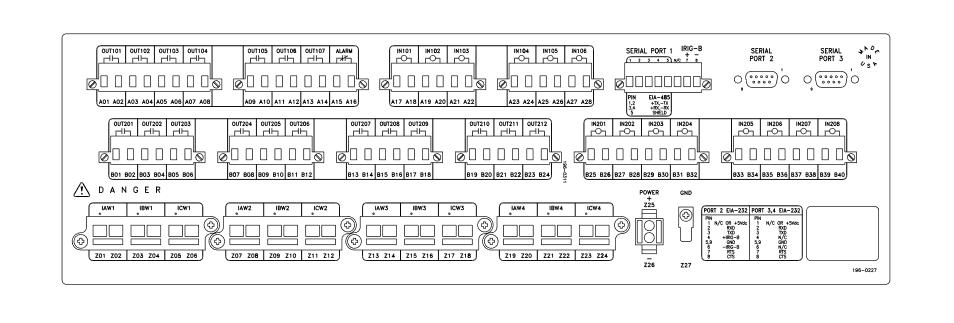 SEL-387 Rear Panel