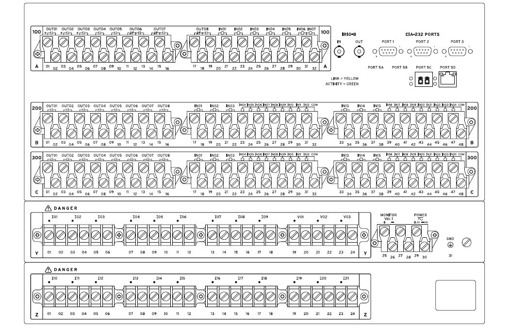 SEL-487B Rear Panel