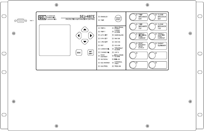 SEL-487E Front Panel