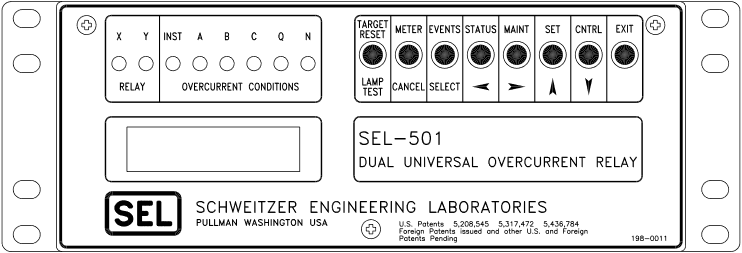 SEL-501 Front Panel