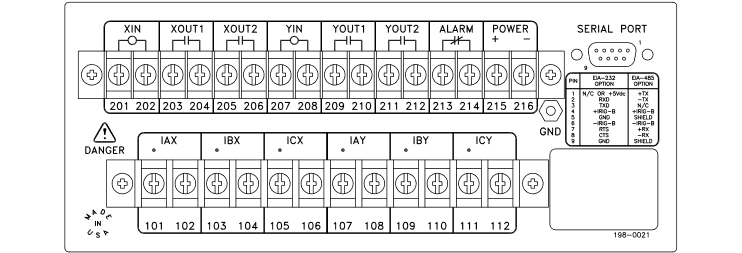 SEL-501 Rear Panel