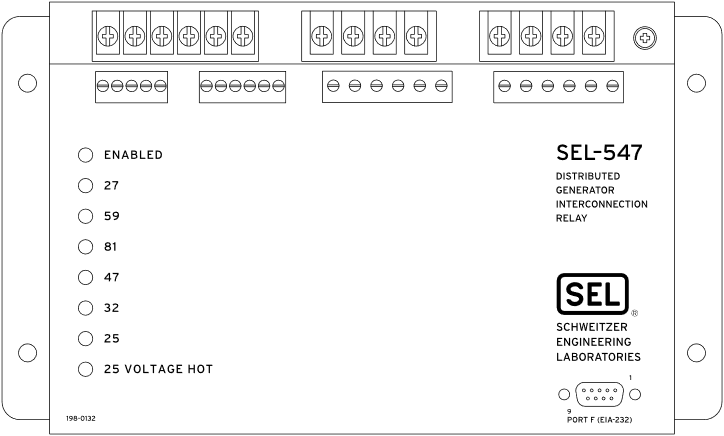 SEL-547 Front Panel