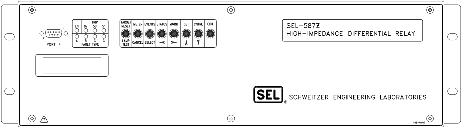 SEL-587Z Front Panel