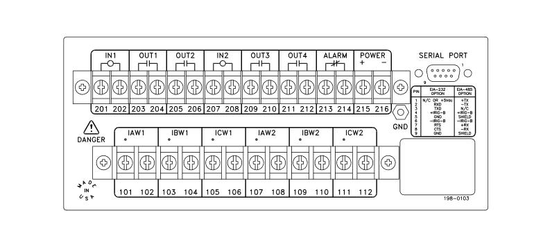 SEL-587 Rear Panel