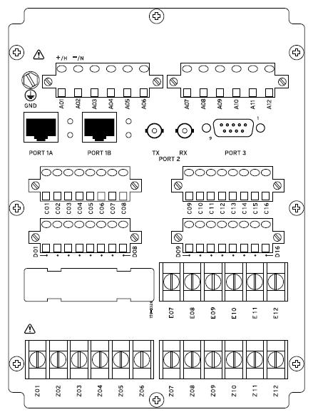 SEL-700G Rear Panel