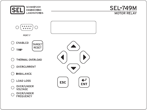 SEL-749M Front Panel