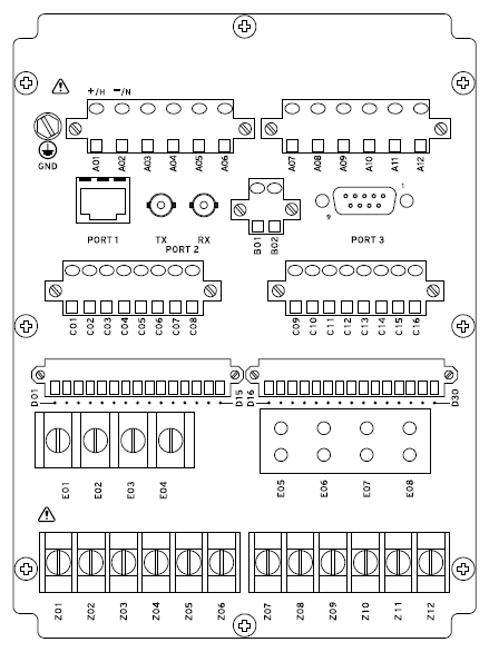 SEL 751_Rear sel 751 sel 751a feeder protection relay n y r limited partnership sel 351 relay wiring diagram at fashall.co