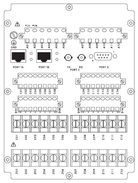 SEL-787-3S Rear Panel